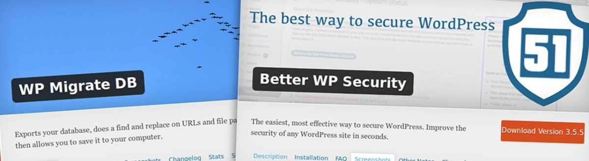 Tradução dos plugins Better WP Security e WP Migrate DB