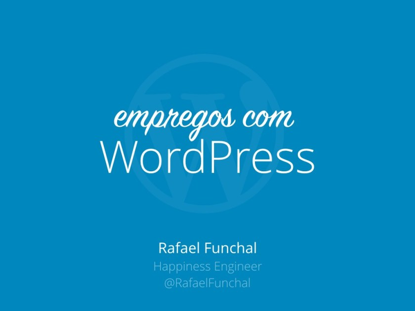 Empregos com WordPress