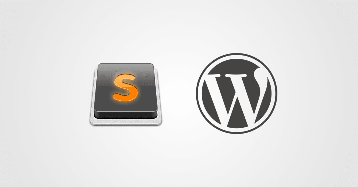 Desenvolvendo para WordPress no Sublime Text