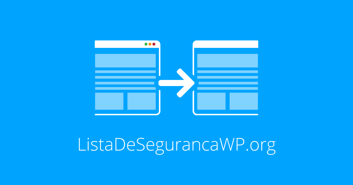 Novo domínio para o WP Security Checklist