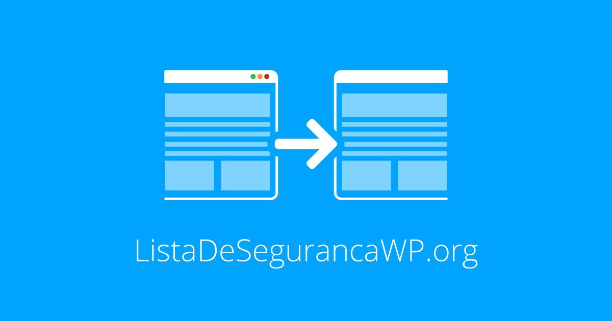 Novo domínio para o WP Security Checklist